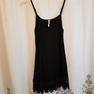 Crocheted lace dress adjustable straps